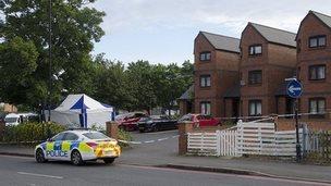 Crime scene on Stratford Road