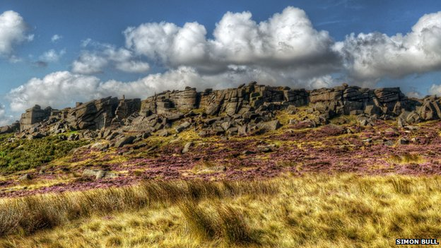 Clouds above Stanage Edge