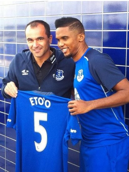 Robrto Martinez and Samuel Eto'o