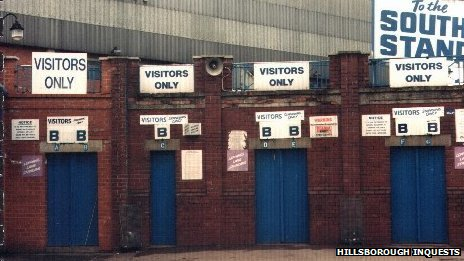 Turnstiles at the Hillsborough stadium