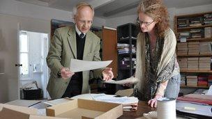 Steven Pugsley and Dr Helen Blackman