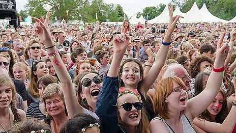 Cornbury crowd