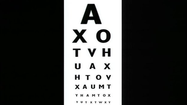 Optician's eye test