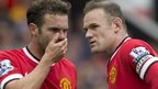 Juan Mata (left) and Wayne Rooney of Man Utd