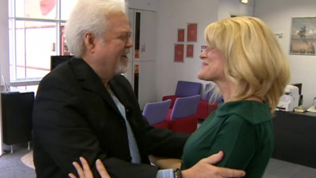 Merrill Osmond and Joanne Milne