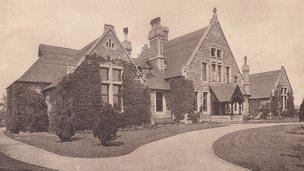 Grantham Hospital (postcard)