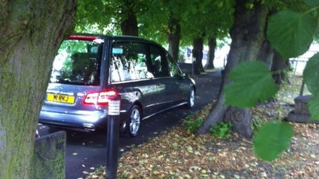 Hearse, St Peter's Church, Belper