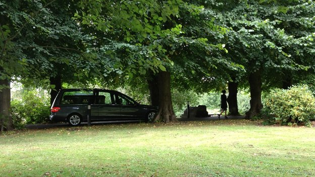 Neil Dalton funeral hearse