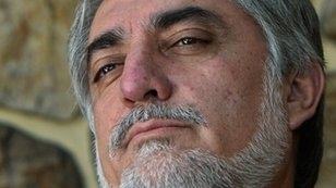 Abdullah Abdullah during interview with AFP at his residence in Kabul August 9, 2014