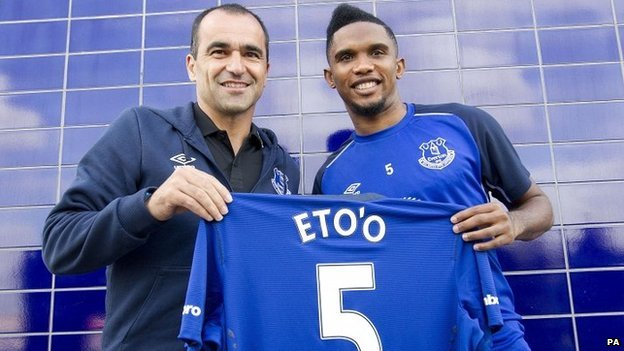 Roberto Martinez and Samuel Eto'o