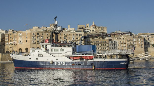 The Phoenix in Malta's Grand Harbour