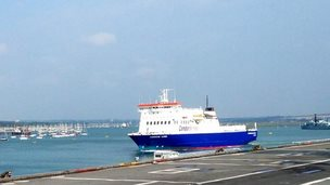 Condor Clipper sets sail from Portsmouth.