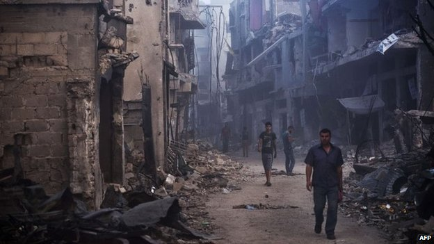 People return to Gaza City's Shejaiya district (27 August 2014)