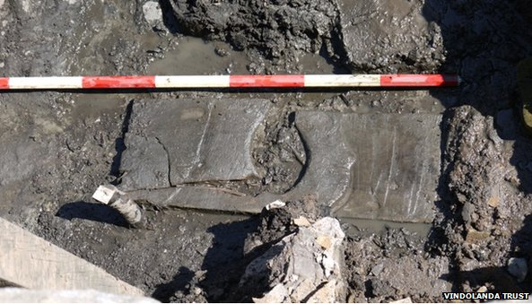 Toilet unearthed at Vindolanda