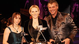 Beth Tweddle alongside 2006 BBC Sports Personality of the Year winner Zara Phillips and runner-up Darren Clarke
