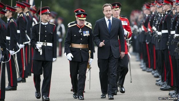 David Cameron meets officer cadets at Sandhurst 2010