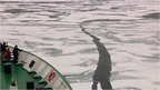 Going through ice across the Northwest Passage