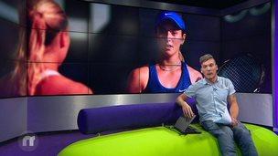 Martin on the Newsround sofa
