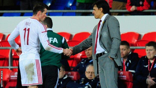 Gareth Bale and Chris Coleman