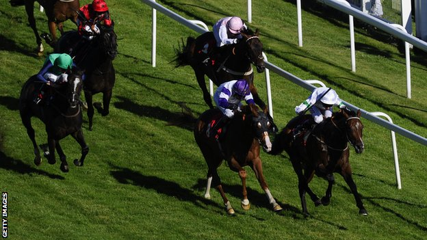 Soul Intent (right) winning at Epsom in July