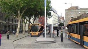 Part of the Bus Rapid Transit Network proposed by the West of England Councils