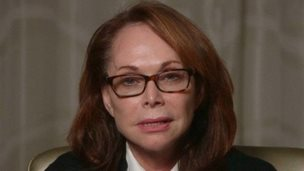 Shirley Sotloff, the mother of American journalist Steven Sotloff who is being held by Islamic rebels in Syria, makes a direct appeal to his captors to release him in this still image from a video released August 26, 2014