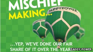 Paddy Power pic from website