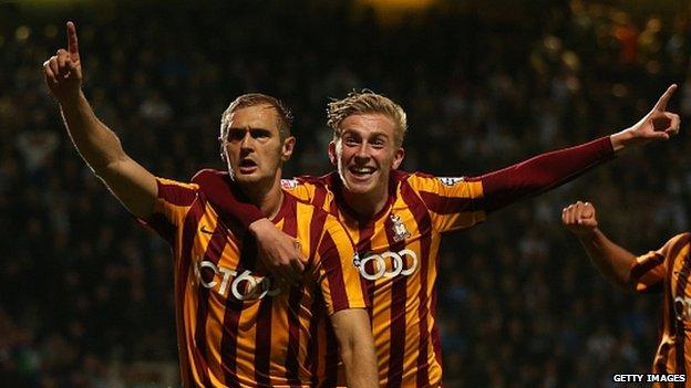 Bradford celebrate win