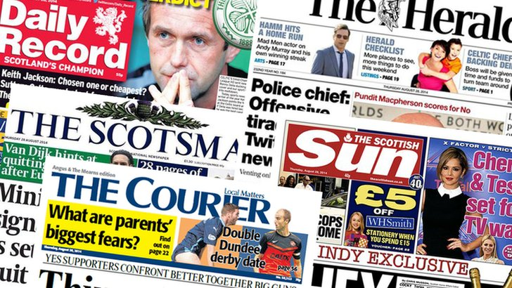 Newspapers 28 August