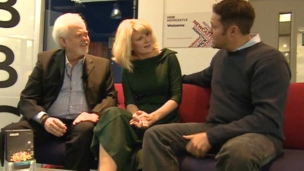 Joanne Milne with Merrill Osmond and Justin Osmond