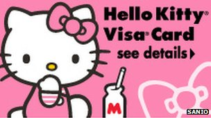 Kitty visa card