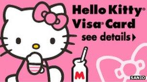 Kitty visa card