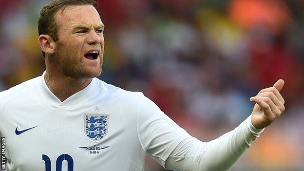 Wayne Rooney in action at Brazil 2014