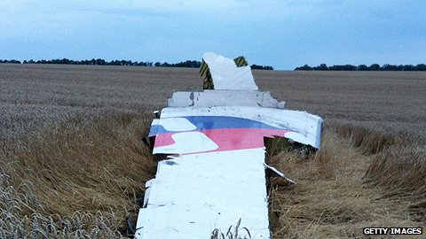 Wreck of Malaysian airliner in Ukraine