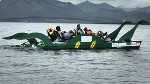 Loch Ness Monster-shaped pedalo
