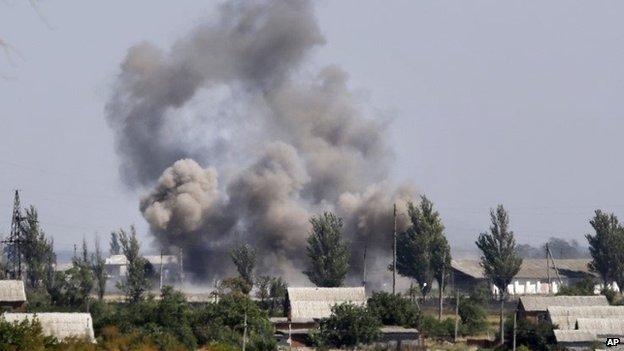 Shelling in Novoazovsk - 27 August