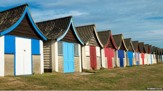 Beach huts in Mablethorpe