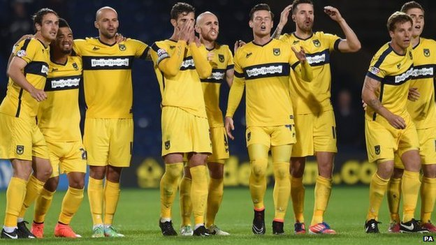 Oxford United watch penalties