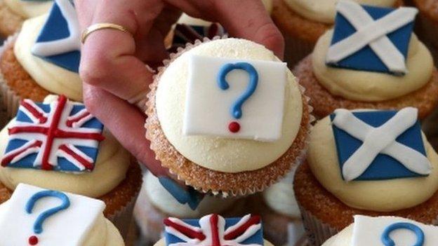 Scottish independence cakes