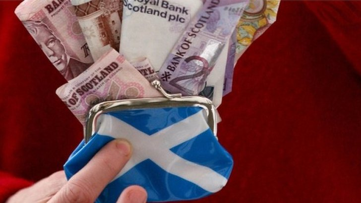 Money in Scottish purse