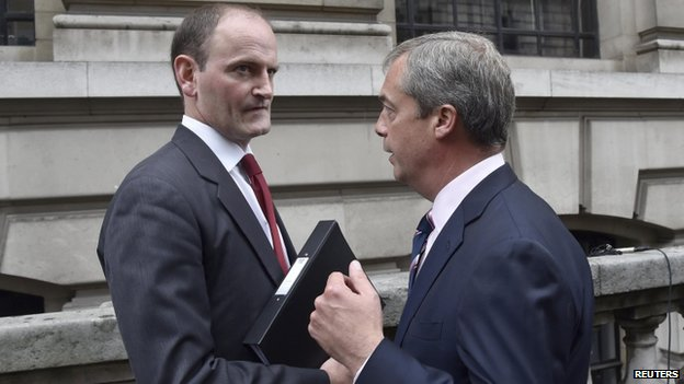 Douglas Carswell (left) and UKIP leader Nigel Farage