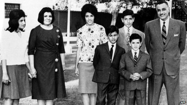 The family of Gamal Abdel Nasser in 1960