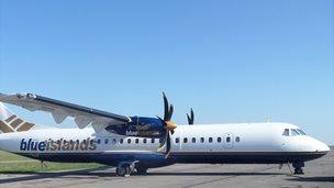 Blue Islands ATR-72 500 plane