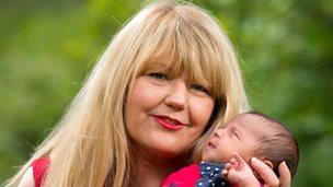 Maria Williams with baby Sasha