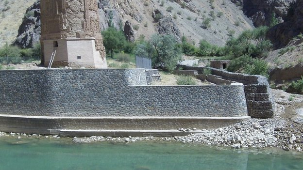 Flooding of the nearby Hari-Rud river has damaged the base of the minaret