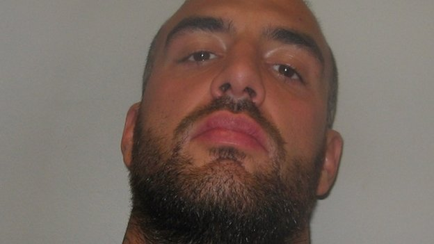 Jonathan Lynn, 29, emptied the contents of a bottle over a group of young gay friends in Vauxhall