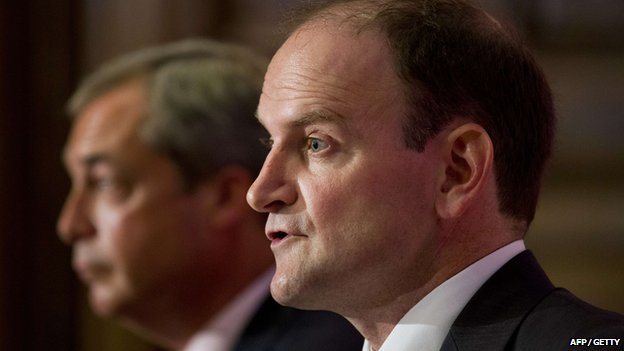 Nigel Farage (left) and Douglas Carswell