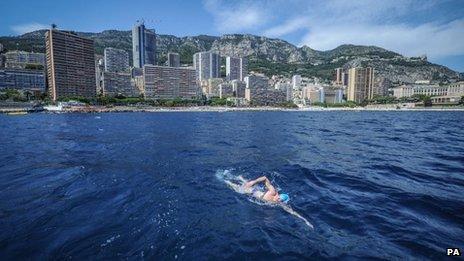 Lewis Pugh in Monaco