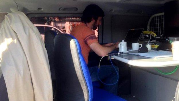 Broadcast van