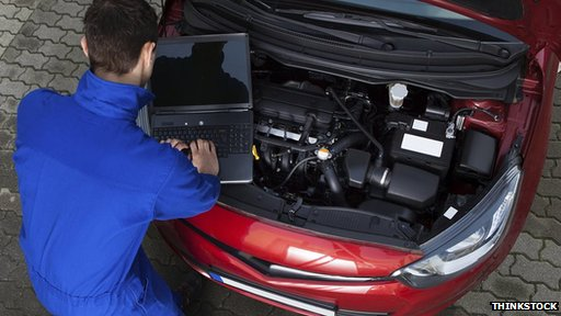 Computer and car